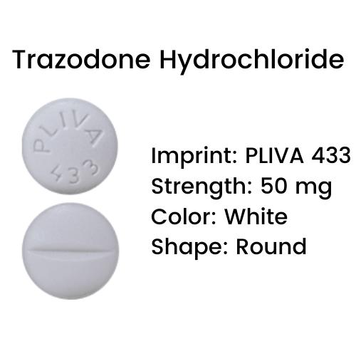Pliva 433 Pill - Trazodone Hydrochloride