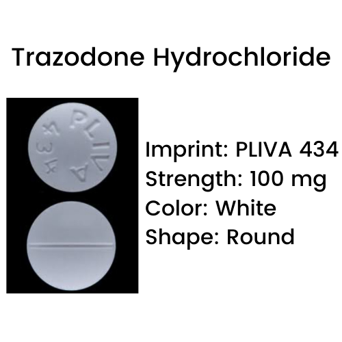 Pliva 434 Pill - Trazodone Hydrochloride